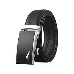 Thắt lưng da bò nam AT Leather P126 - Đen