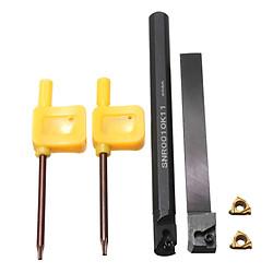 Bộ Cán Dao Tiện SER1010H11/SNR0010K11 10mm + 2 Mảnh Dao Tiện Cacbua + 2 Cờ Lê