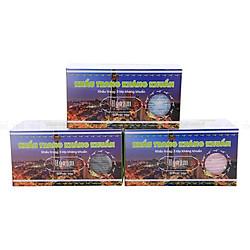 Combo 3 Hộp Khẩu Trang Kháng Khuẩn 3 Lớp Hy Nam - Xanh, Hồng, Xám