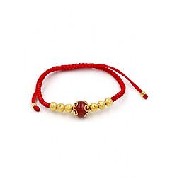 Vòng đeo tay tết dây cẩn thạch anh đỏ TD8 - Vòng tay chỉ đỏ may mắn