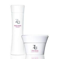 Combo Nước hoa hồng dưỡng trắng (150ml) & kem dưỡng trắng da ban đêm (40g) Za True White (Night Cream 40g + Toner 150ml)