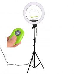 Đèn Livestream RL18 II có gương trang điểm đường kính 45cm - Tặng kèm remote chụp hình bluetooth(màu ngẫu nhiên)
