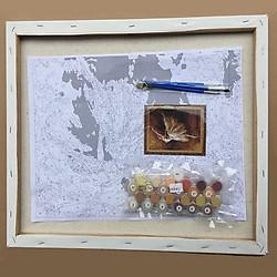 Bộ Dụng Cụ Vẽ Tranh Sơn Dầu Họa Tiết Cây Cảnh Hoa Lily (40*50cm)