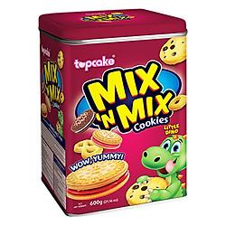 Bánh Cookies TOPCAKE Mix'n Mix (Hộp 600g)