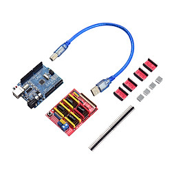 Aibecy 3D Printer Accessories CNC Shield UNO-R3 Board A4988 Driver Kit With Heat Sink For Arduino Engraver 3D Printer