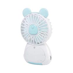 Quạt sạc mini cầm tay có chỗ để điện thoại, có đèn led V13 (hình ngẫu nhiên, màu ngẫu nhiên) tặng kèm 1 gương mini