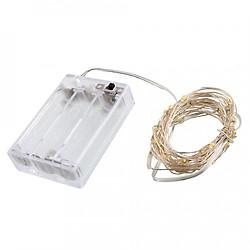 Đèn trang trí bóng led chống nước 10m dùng pin
