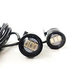 Bộ đèn led trợ sáng cầu lồi mini gắn chân gương xe máy Greennetworks (màu đen)