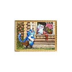 Bộ Dụng Cụ Vẽ Tranh Sơn Dầu Họa Tiết Tình Yêu Của Chú Mèo (40*50cm)