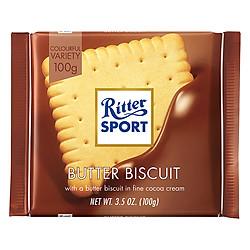 Socola Sữa Nhân Bánh Quy Bơ Ritter Sport (100g)