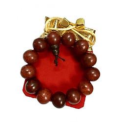 Vòng tay nam phong thủy gỗ sưa đỏ may mắn (có kèm túi gấm cao cấp)
