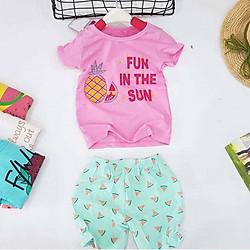 Bộ quần áo mùa hè bé gái