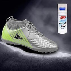 Giày bóng đá Mitre MT170434 màu bạc - Tặng bình làm sạch giày cao cấp