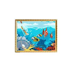 Bộ Dụng Cụ Vẽ Bộ Làm Tranh Sơn Dầu Hình Đại Dương (40 x 50cm)