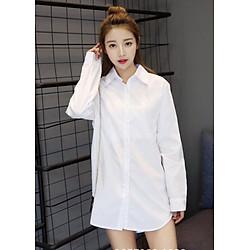 Sét áo sơ mi nữ màu trắng cổ đức dáng truyền thống đủ size kèm 1 nơ xinh xắn