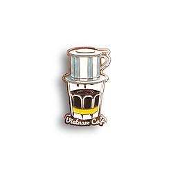 Huy hiệu lưu niệm Việt Nam Lapel Pin - Cà phê sữa đá