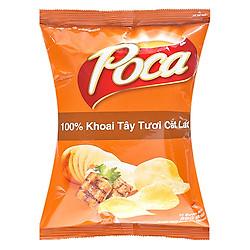 Snack Poca Khoai Tây Vị Sườn Nướng BBQ (100g / Gói)