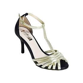 Giày Sandal Cao Gót Hở Mũi Merlyshoes 0811 - Vàng
