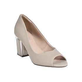 Giày Gót Trong Suốt Vân Cát Merlyshoes 0813 - Kem Cát