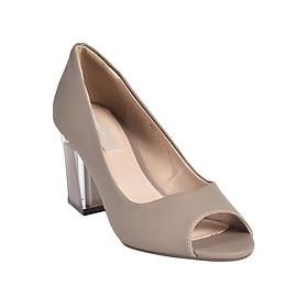 Giày Gót Trong Suốt Vân Cát Merlyshoes 0813 - Nâu Cát