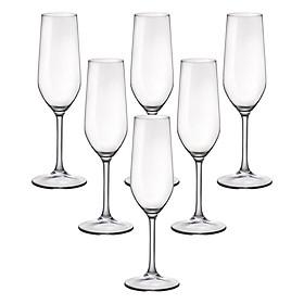 Bộ 6 Ly Rượu Thủy Tinh Champagne Riserva Bormioli Rocco 126281BN9021990 (210ml / Ly)