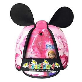 Hình đại diện sản phẩm Mũ Bảo Vệ Đầu Cho Bé Headguard Elsa Hồng