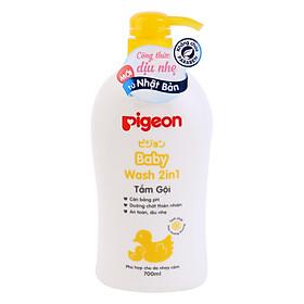 Sữa Tắm Gội Pigeon 2 Trong 1 Tinh Chất Hoa Hướng Dương (700ml)
