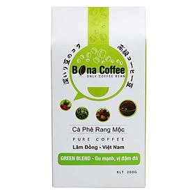 Cà Phê Rang Xay Nguyên Chất Bona Coffee - Green Blend 200g