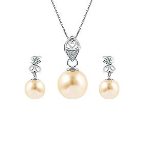 Bộ Trang Sức Bạc Gold Pearl Eropi 100070034