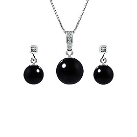 Bộ Trang Sức Bạc Black Pearl Eropi 100070040