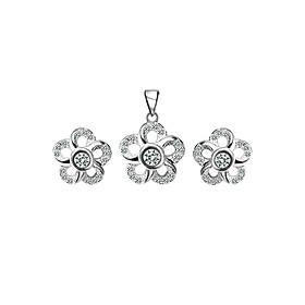 Bộ Trang Sức Bạc Isabelle Flower Eropi 101070019