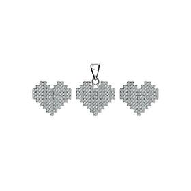 Bộ Trang Sức Bạc Heartbeat Eropi 101070074