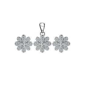 Bộ Trang Sức Bạc White Flower Eropi 101070188