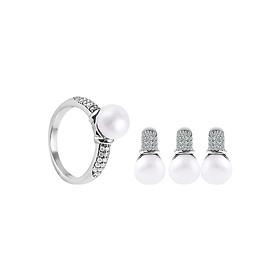 Bộ Trang Sức Bạc Love Pearls Eropi 102080028
