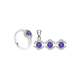 Bộ Trang Sức Bạc Purple Elegant Eropi 103080080