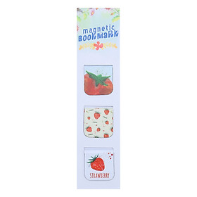Bộ 3 Bookmark Nam Châm Kính Vạn Hoa - Summer Fruits: Strawberry
