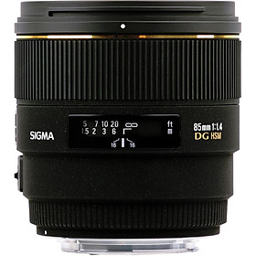 Lens Sigma 85mm f/1.4 EX DG HSM for Canon