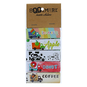 Bộ 5 Bookmark Nam Châm Kính Vạn Hoa - Food And Beverage Delivery