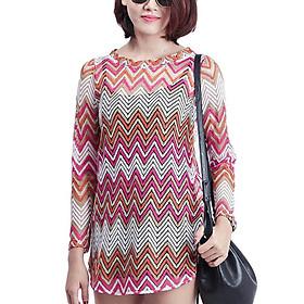 Set Đầm Suông Ren Vạt Bầu Labelle D163 - Hồng Đậm