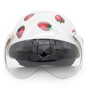 Mũ Bảo Hiểm Protec Kitty 2 Màu Có Kính (Hoa Văn Ngẫu Nhiên)