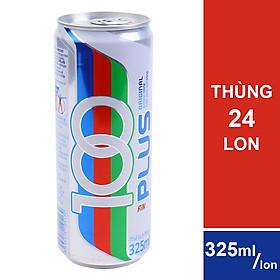 Thùng 24 Lon 100 Plus Hương Tự Nhiên (325ml / Lon)