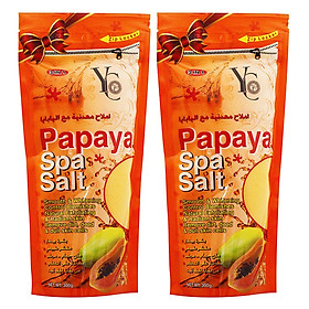 Hình đại diện sản phẩm Combo 2 Muối Tắm Spa Đu Đủ YC Papaya Spa Salt YC373 (300g / Túi)
