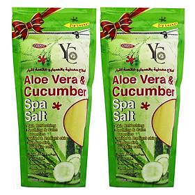 Hình đại diện sản phẩm Combo 2 Muối Tắm Spa Lô Hội & Dưa Leo YC Aloe Vera & Cucumber Spa Salt YC374 (300g / Túi)