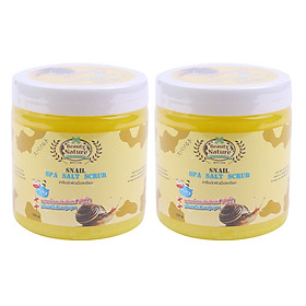 Hình đại diện sản phẩm Combo 2 Muối Tắm Spa Ốc Sên Beauty Nature Snail Spa Salt Scrub (700g / Hộp)
