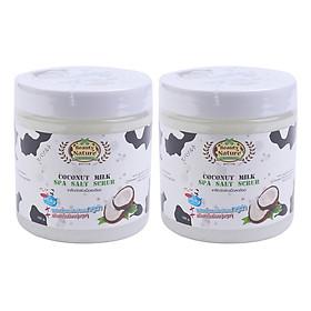 Hình đại diện sản phẩm Combo 2 Muối Tắm Spa Sữa Dừa Beauty Nature Coconut Milk Spa Salt Scrub (700g / Hộp)