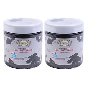 Hình đại diện sản phẩm Combo 2 Muối Tắm Spa Bột Than Beauty Nature Charcoal Spa Salt Scrub (700g / Hộp)