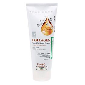 Sữa Rửa Mặt Collagen Hỗ Trợ Trị Thâm Xạm Dưỡng Trắng Da Dabo Nature Collagen (180ml)