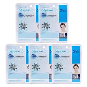 Combo 5 Mặt Nạ Dermal Tinh Chất Collagen Với Chiết Xuất Làm Trắng Tự Nhiên