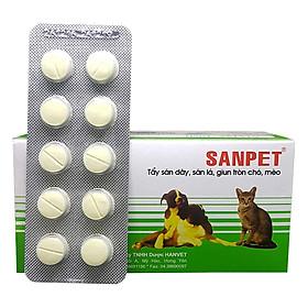 Tẩy Giun Chó Mèo Hanvet Sanpet (1 Vỉ 10 Viên)