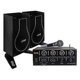 Combo Loa Karaoke BMB CSH200, Ampli Karaoke BMB DAH100, Micro Karaoke BMB NKN300 – Hàng Chính Hãng